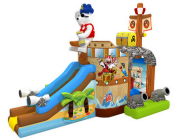 T2-3296 jumping castle with slide