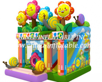 T2-3298 jumping castle with slide