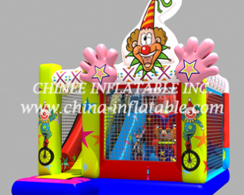 T2-3334 inflatable combo with slide