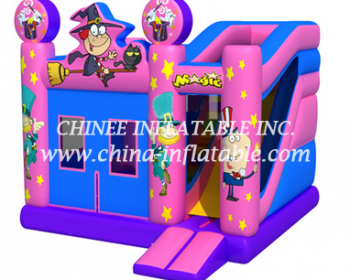 T2-3335 inflatable bouncer with slide